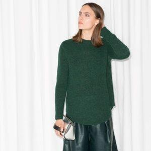 & Other Stories Alpaca Blend Sweater Deep Green S